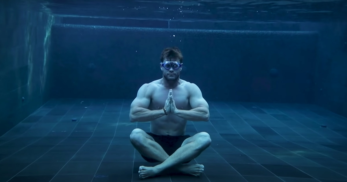 Watch as Chris Hemsworth's son hilariously crashes his meditation session