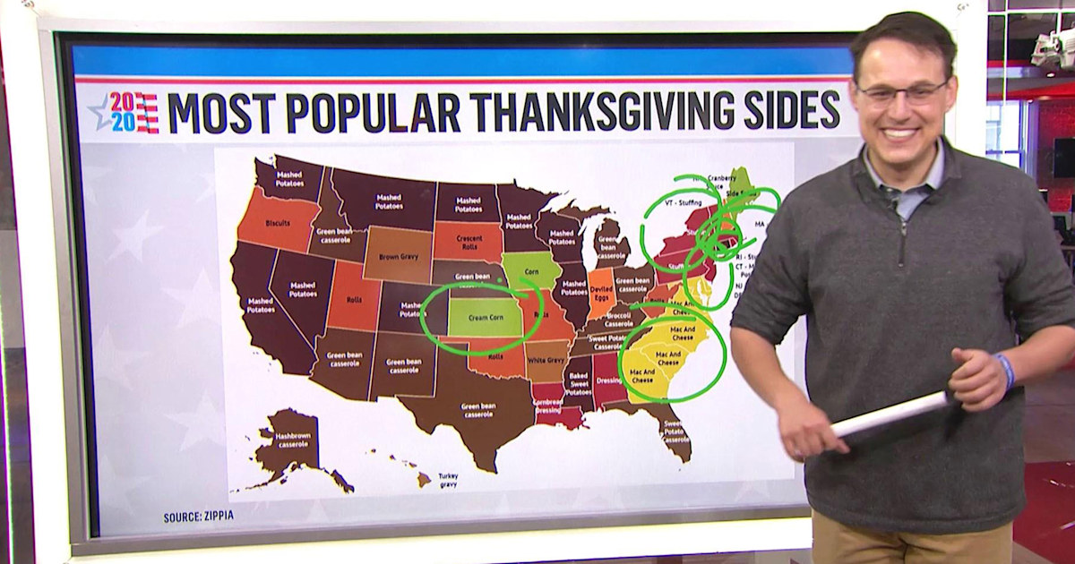 Steve Kornacki is back at the map — but this one's about Thanksgiving sides