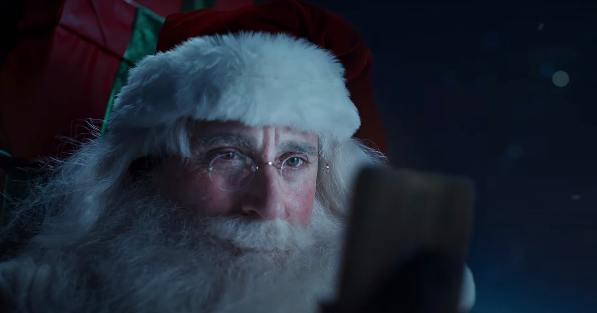 The internet is loving Steve Carell playing Santa in new holiday commercial