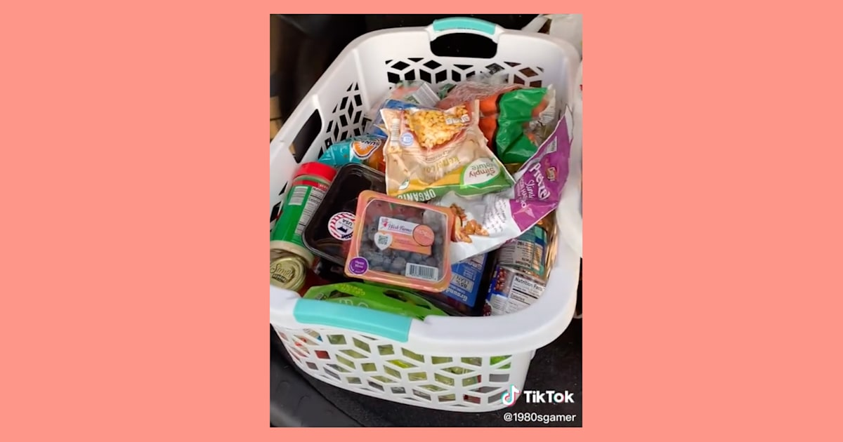The secret to the easiest grocery shopping experience is … laundry baskets?