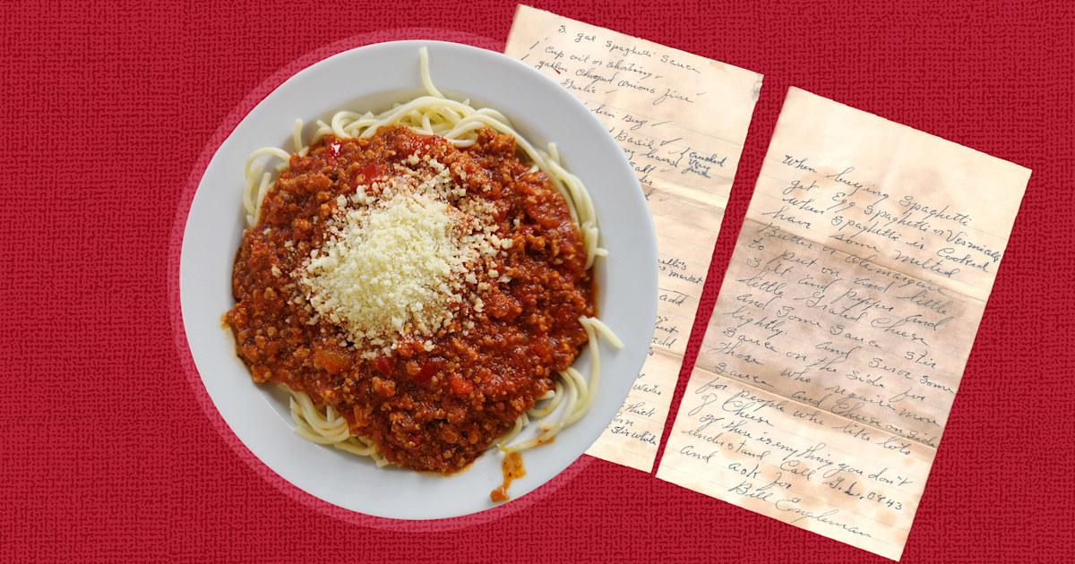 Homeowner finds secret pasta sauce recipe hidden in garage from 1947
