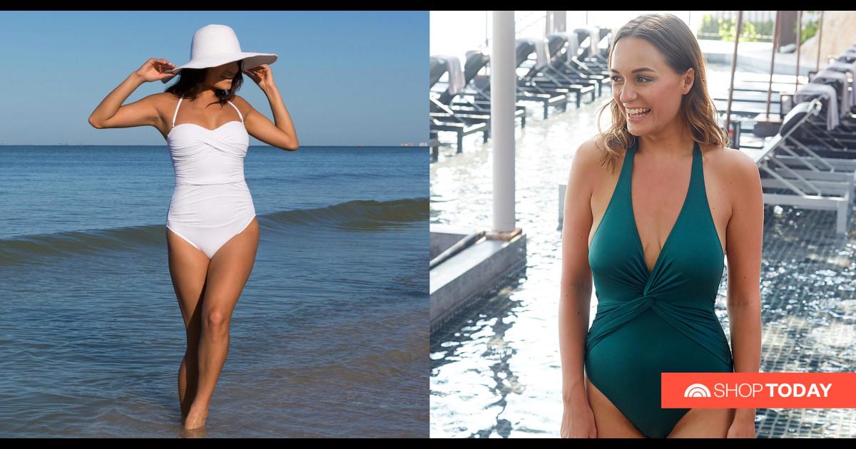 Women Swimsuits Two Piece Swimsuits Tankini Swimdress Printed Bathing Suit Dress Tummy Control