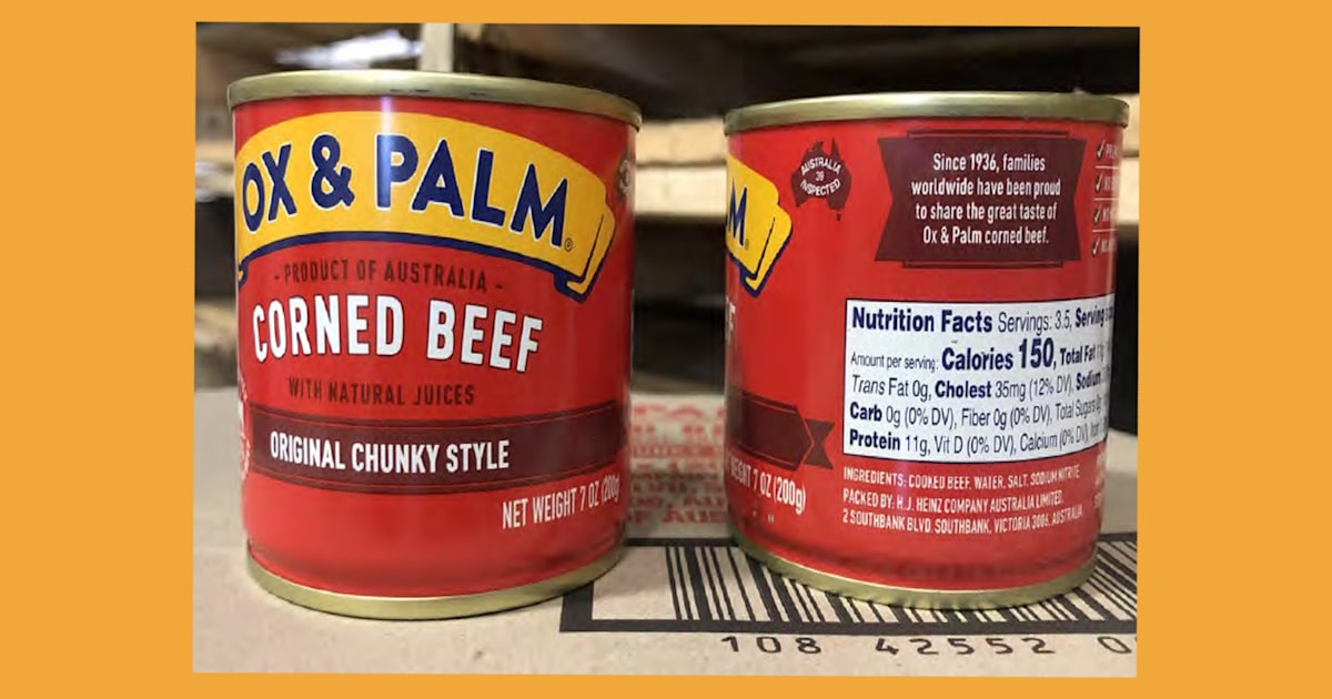 300,000 pounds of canned corned beef recalled, just in time for St. Patrick's Day