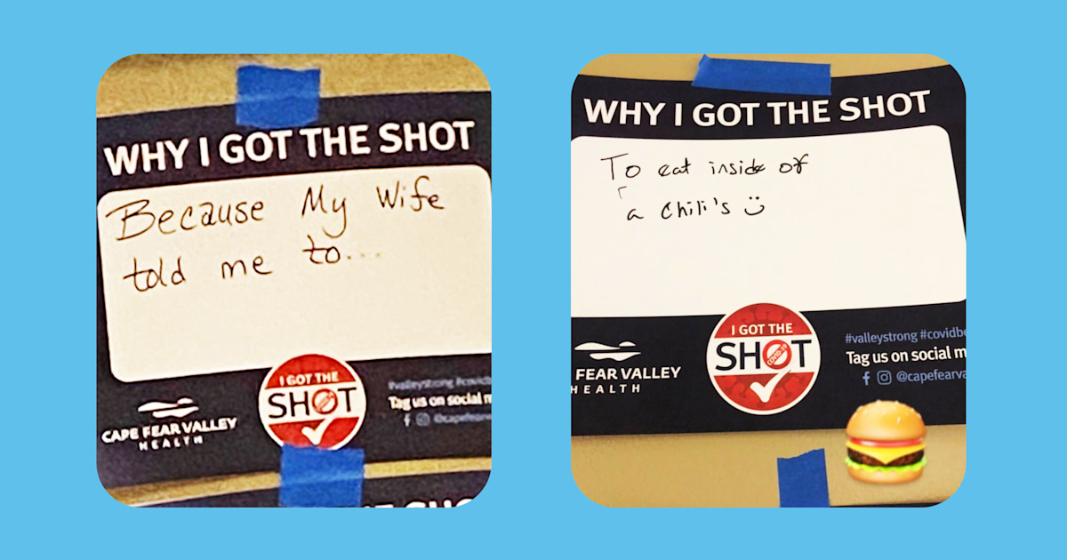 This vaccine site asks people why they got the shot. The answers have 1 clear theme