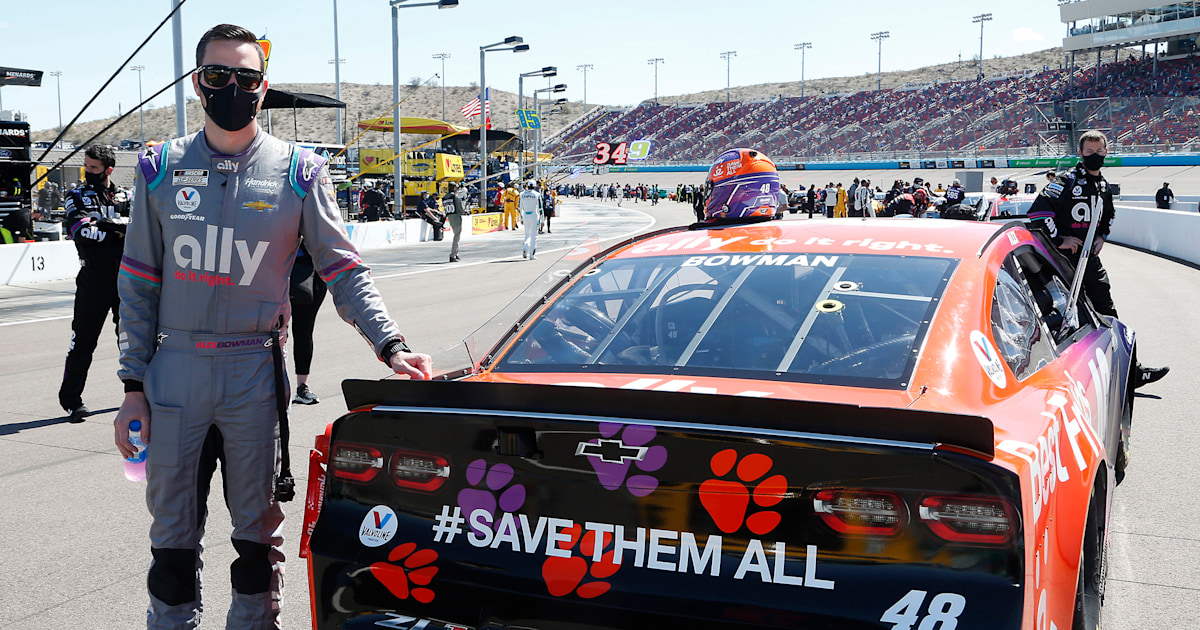 NASCAR driver Alex Bowman brings animal rescue to new audience