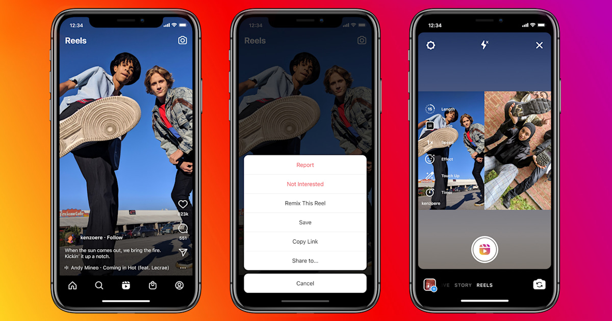 Instagram releases Remix feature on Reels, which is similar to Duets on <b>TikTok</b> thumbnail