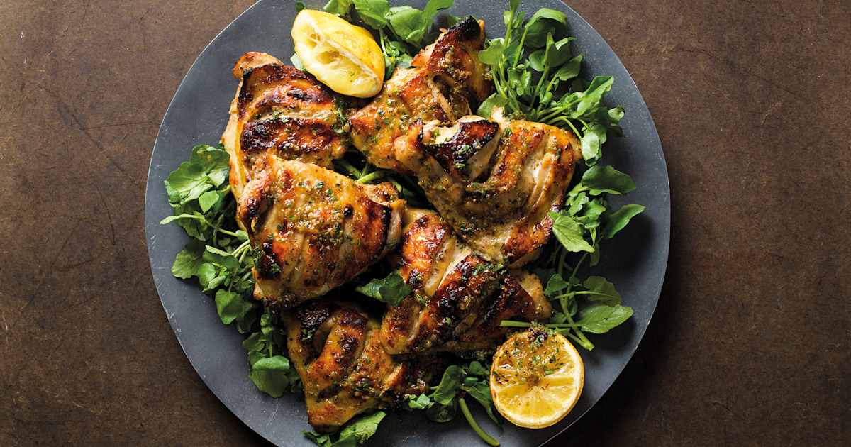 Make herb-roasted chicken and use the leftovers in a harissa-spiced pasta