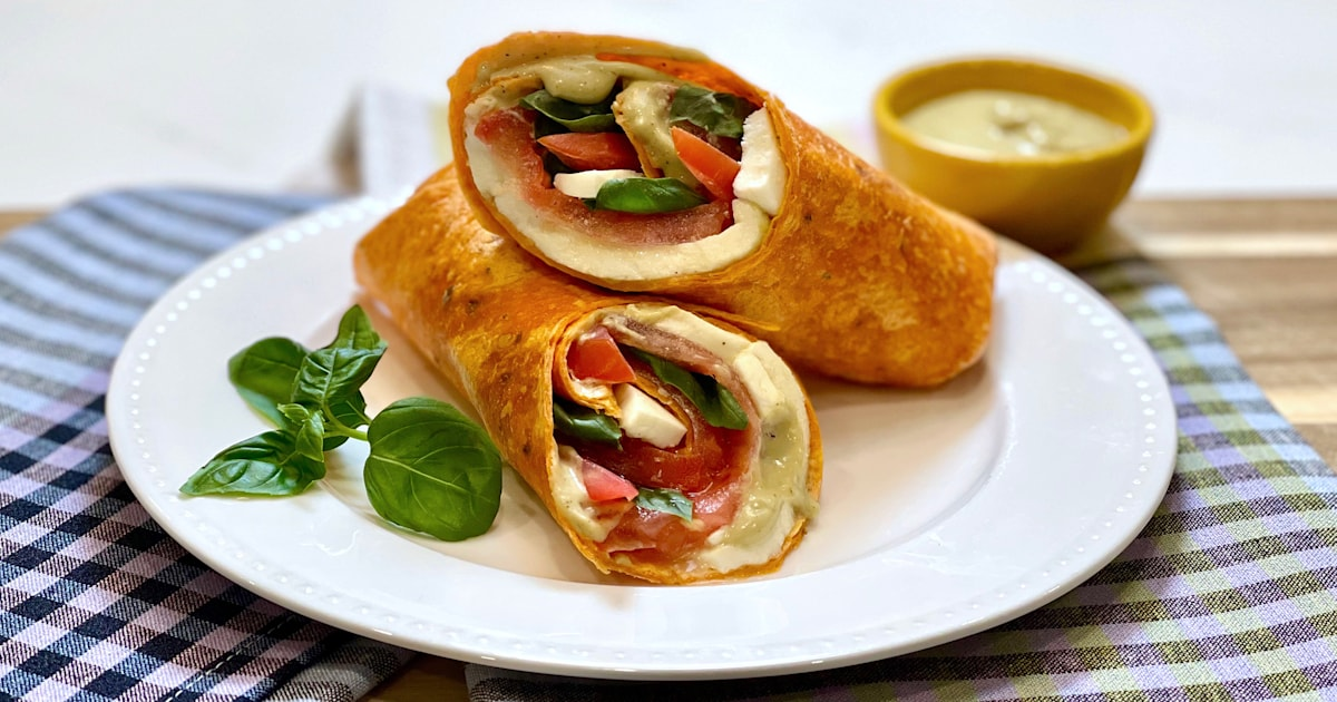 Joy Bauer lightens up Caesar dressing and rolls it up into 2 tasty wraps