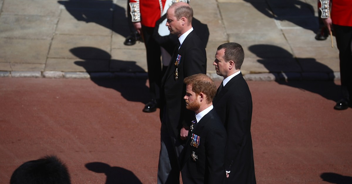 William and Harry make 1st appearance together at Prince Philip's funeral