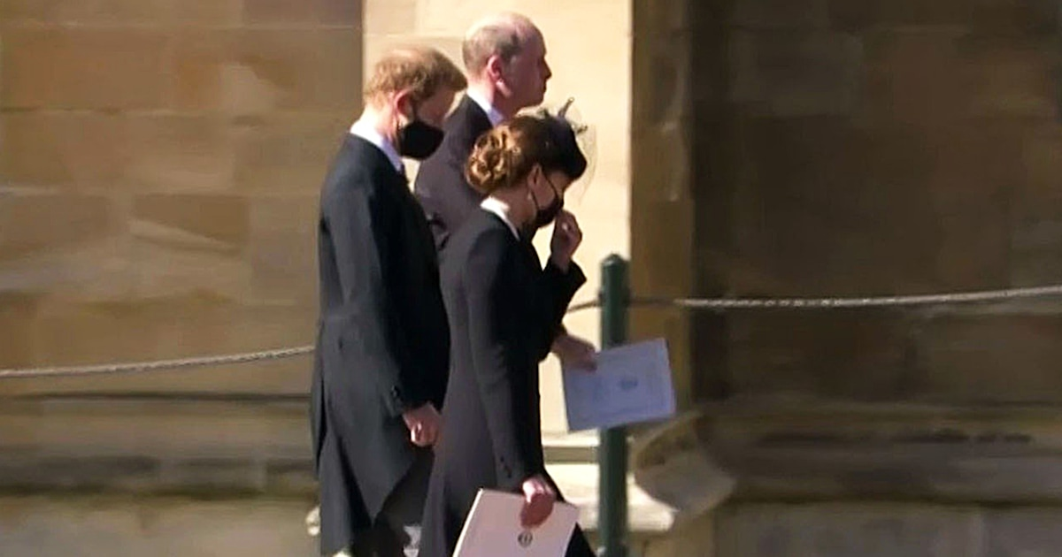 William and Harry share a touching moment together after Prince Philip's funeral