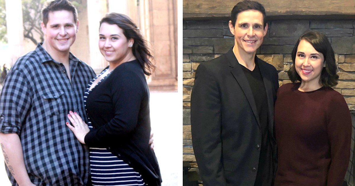 Couple loses over 400 pounds together and finally becomes pregnant