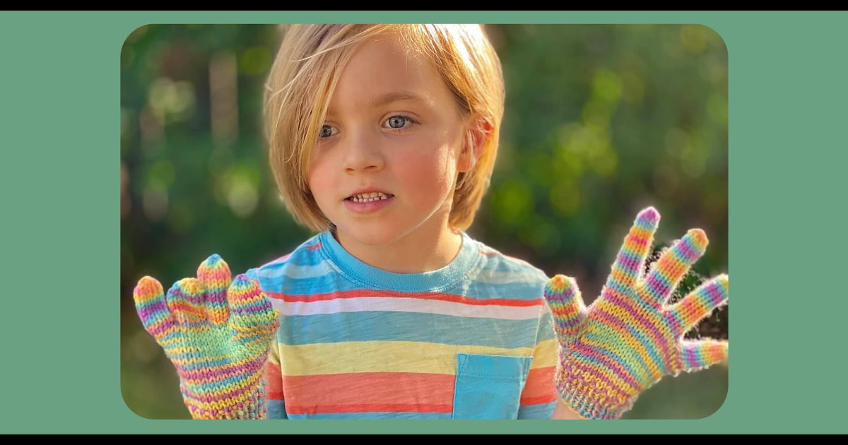 'He was over the moon': Knitters create gloves for kids, adults with limb differences
