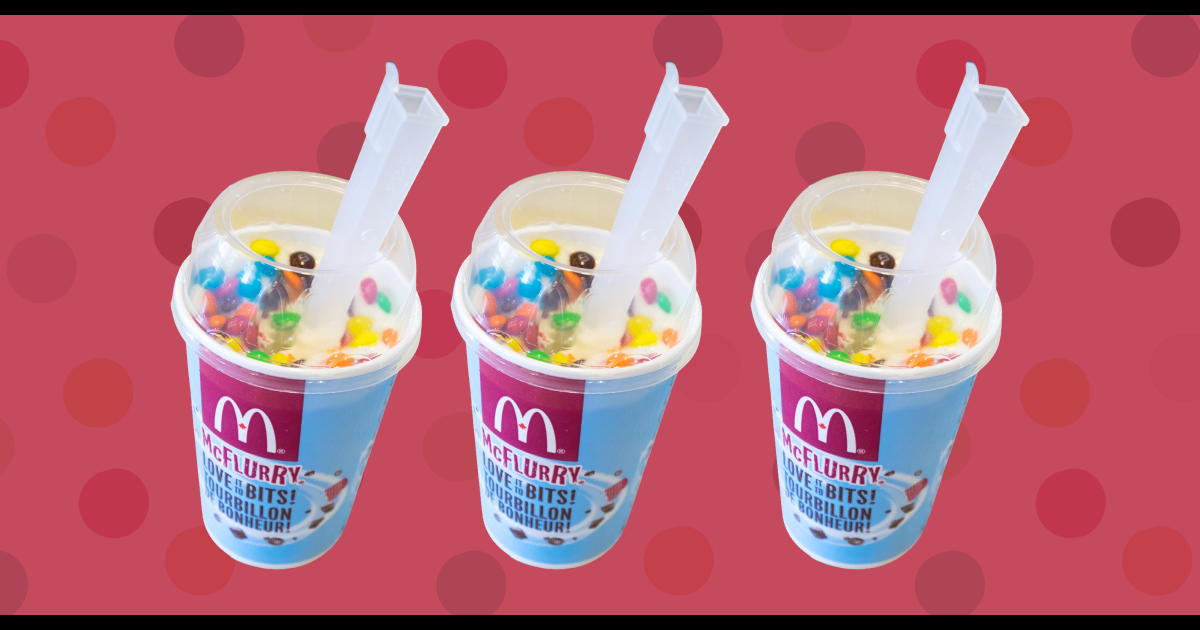 McDonald's is giving away McFlurries today to everyone who thought the spoon was a straw