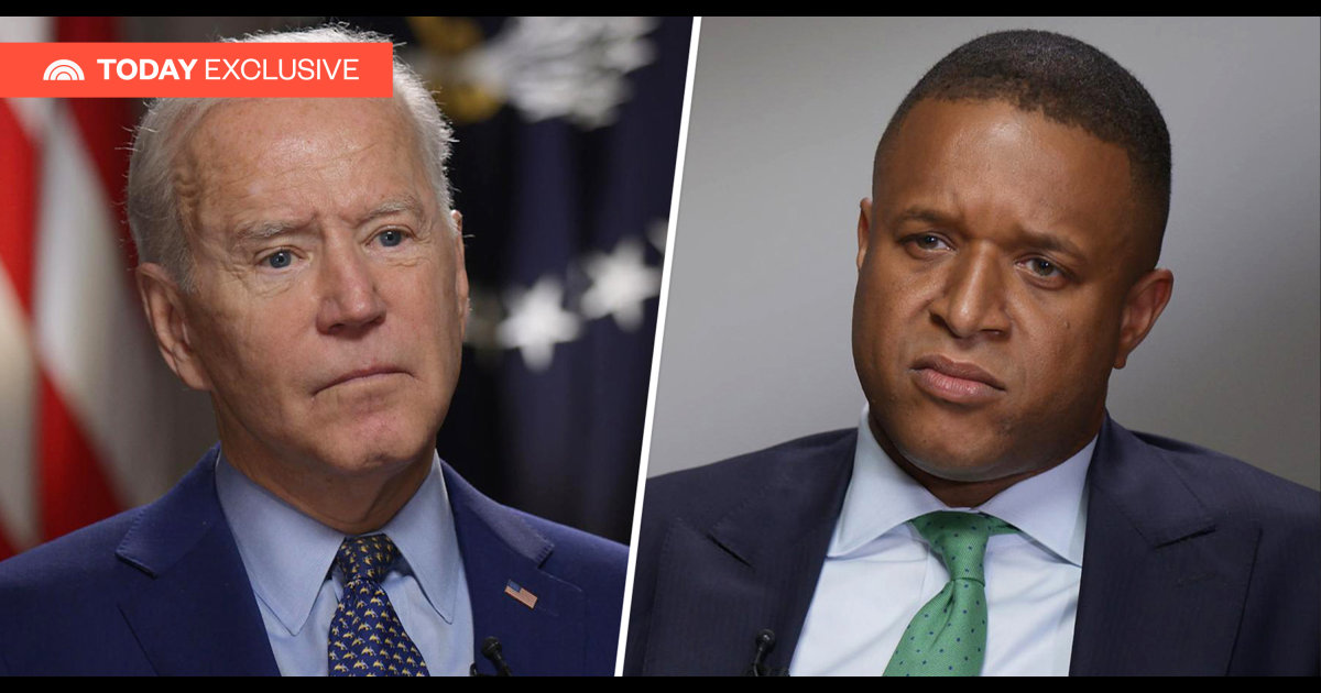 TODAY exclusive: Biden says he was not aware of FBI search of Rudy Giuliani's home