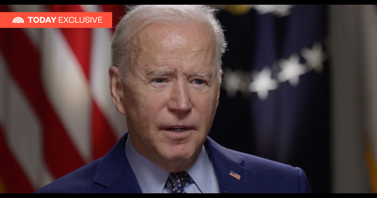 President Biden in TODAY exclusive: 'I don't think the American people are racist'