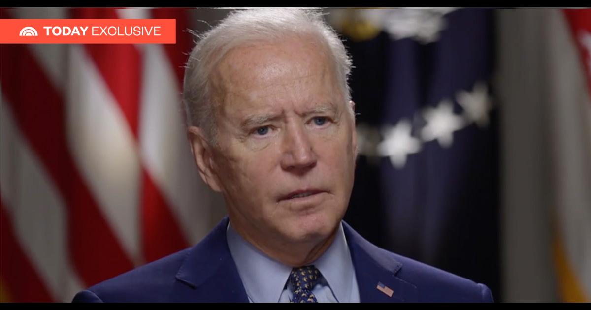 Joe Biden says schools should be open in the fall