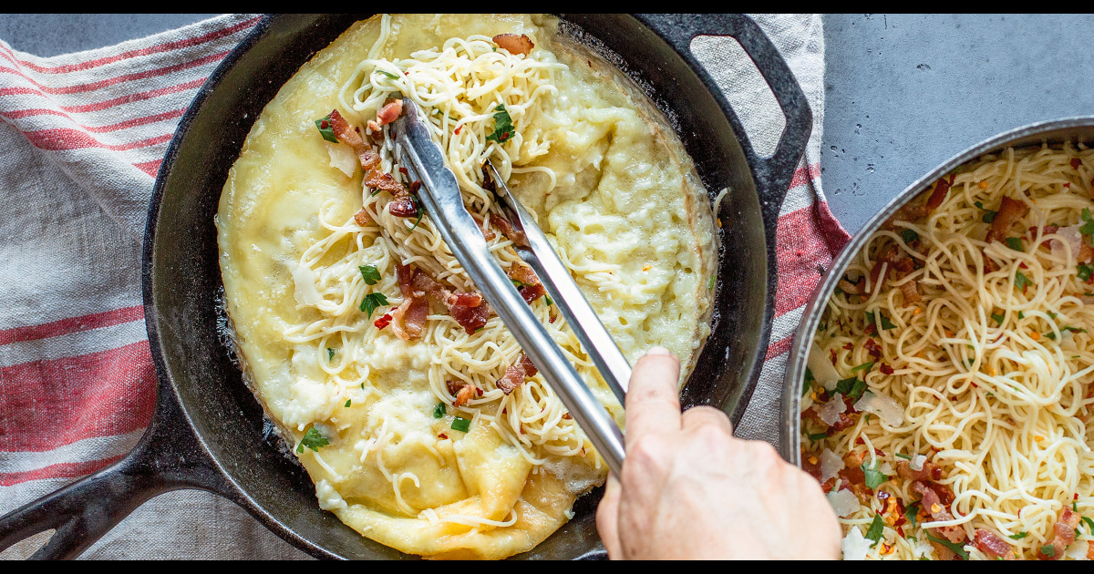 This creamy brie and bacon pasta is the ultimate comfort food