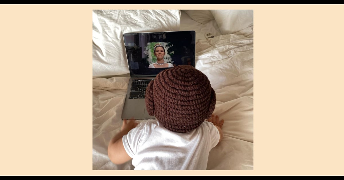 This 'Star Wars' Day, enjoy this pic of Carrie Fisher's grandson in a Princess Leia hat