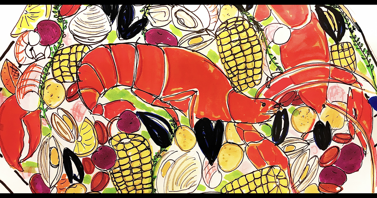 An illustrated guide to making a clambake at home
