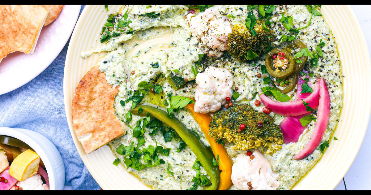 This whipped feta platter is the perfect thing to serve when it's too hot to cook