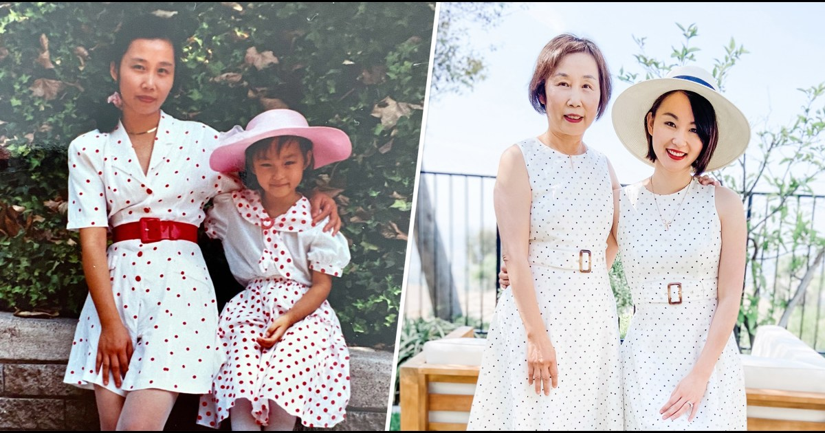 See how a daughter celebrated her mom's sacrifice by recreating photos