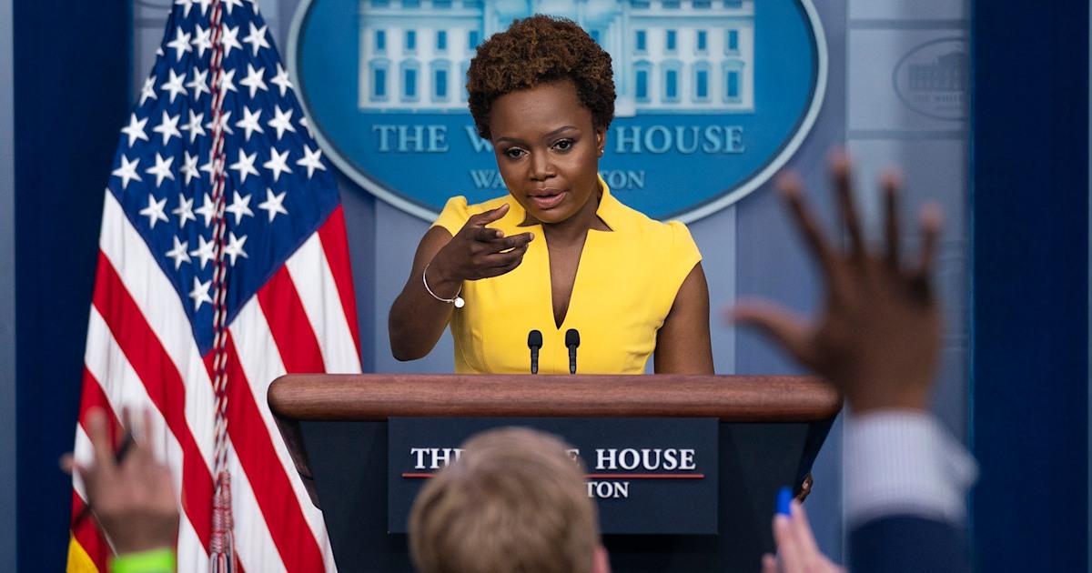 Karine Jean-Pierre makes history in White House briefing room