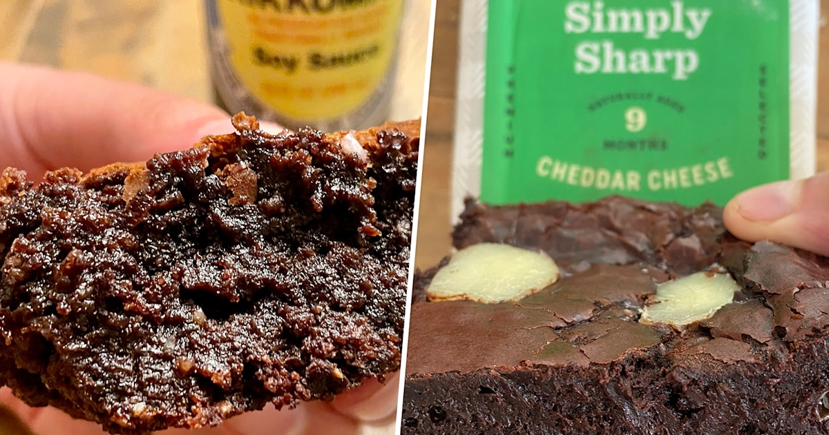 We tried 4 bold brownie recipes featuring cheese, hot sauce, miso and soy sauce