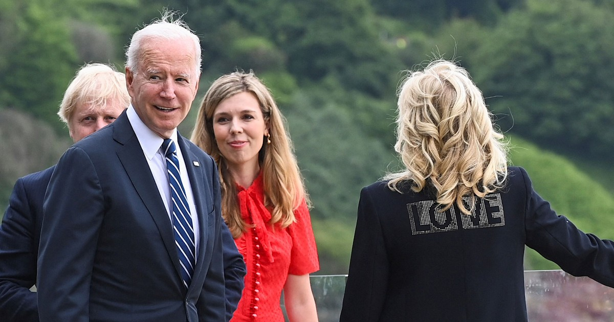 Jill Biden explains why she's wearing a 'Love' jacket during UK trip