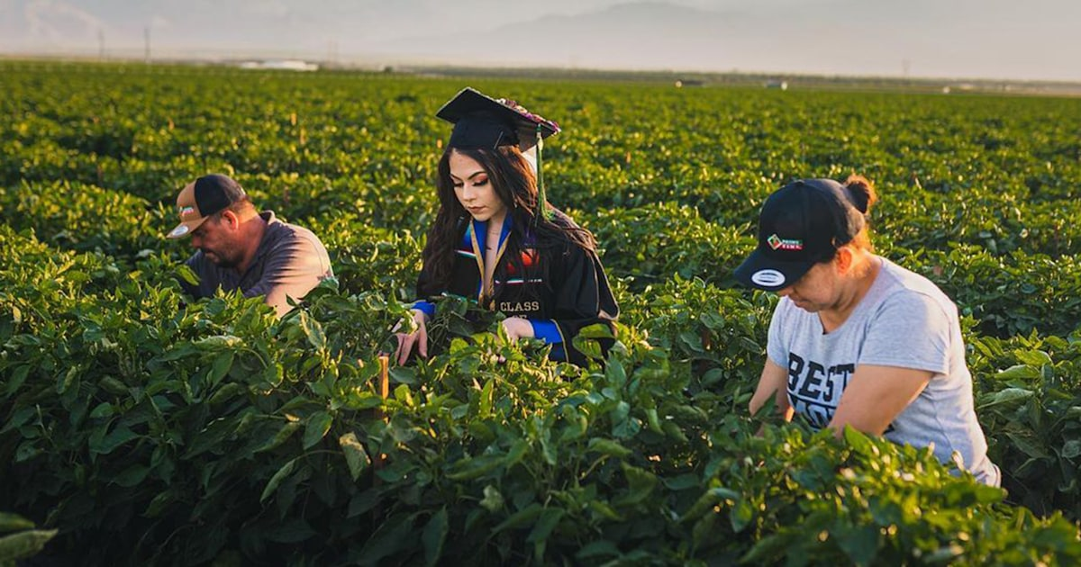 See the special photos a college graduate took to honor her parents