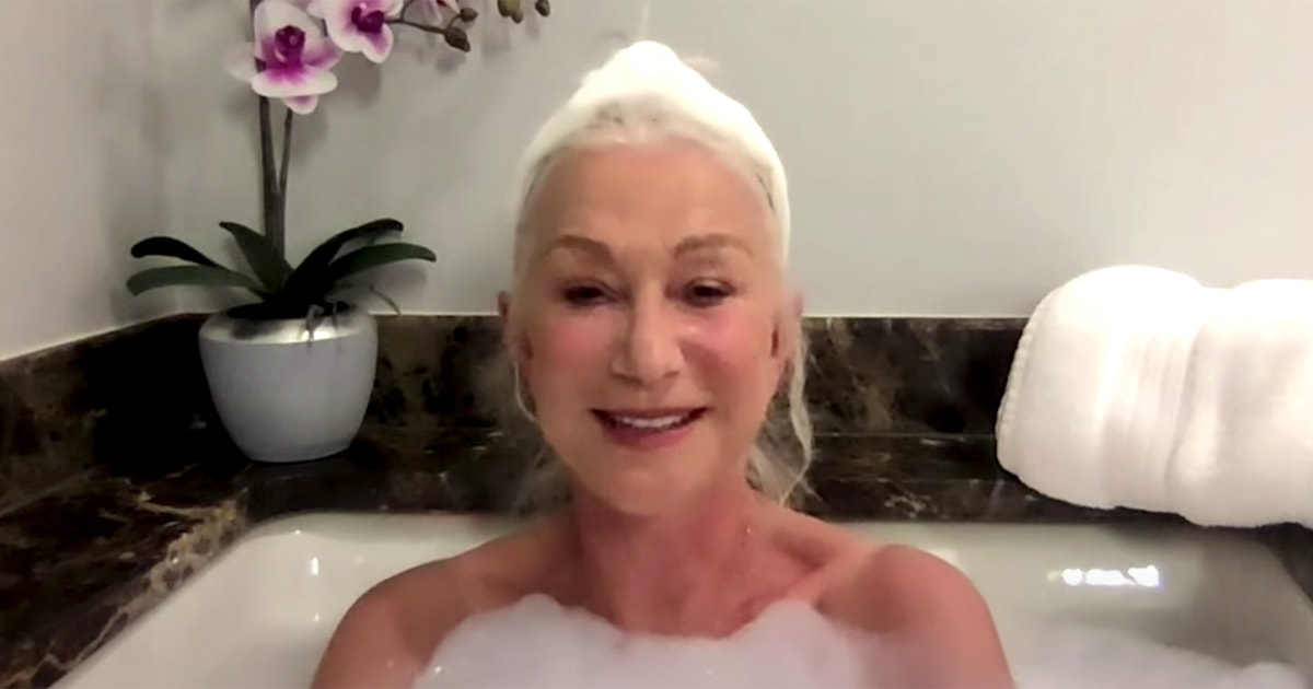 Helen Mirren appears on 'The Tonight Show' ... from her bathtub