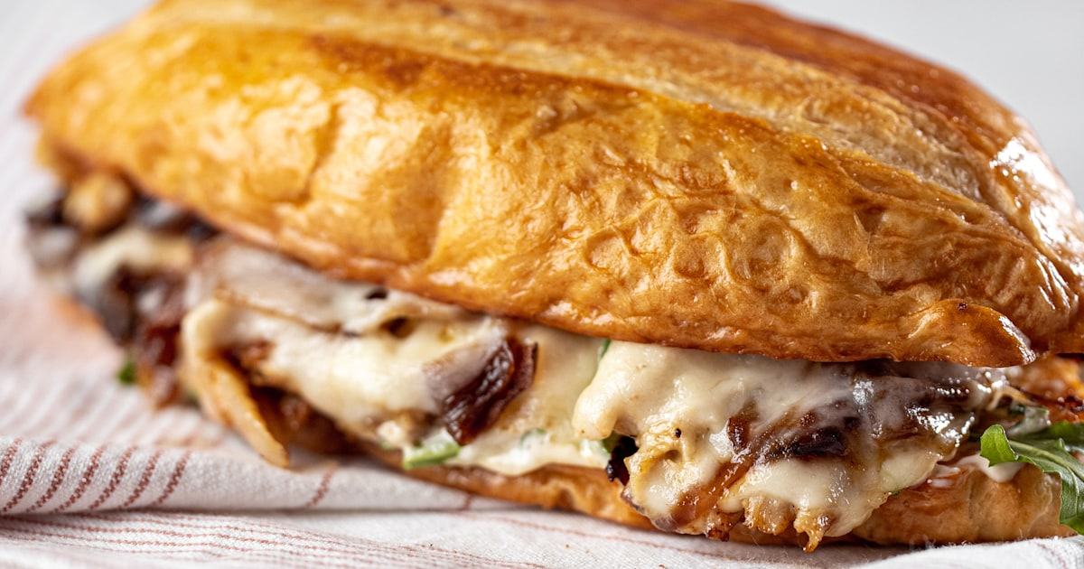 Turn leftover roast chicken into tasty French dip sandwiches