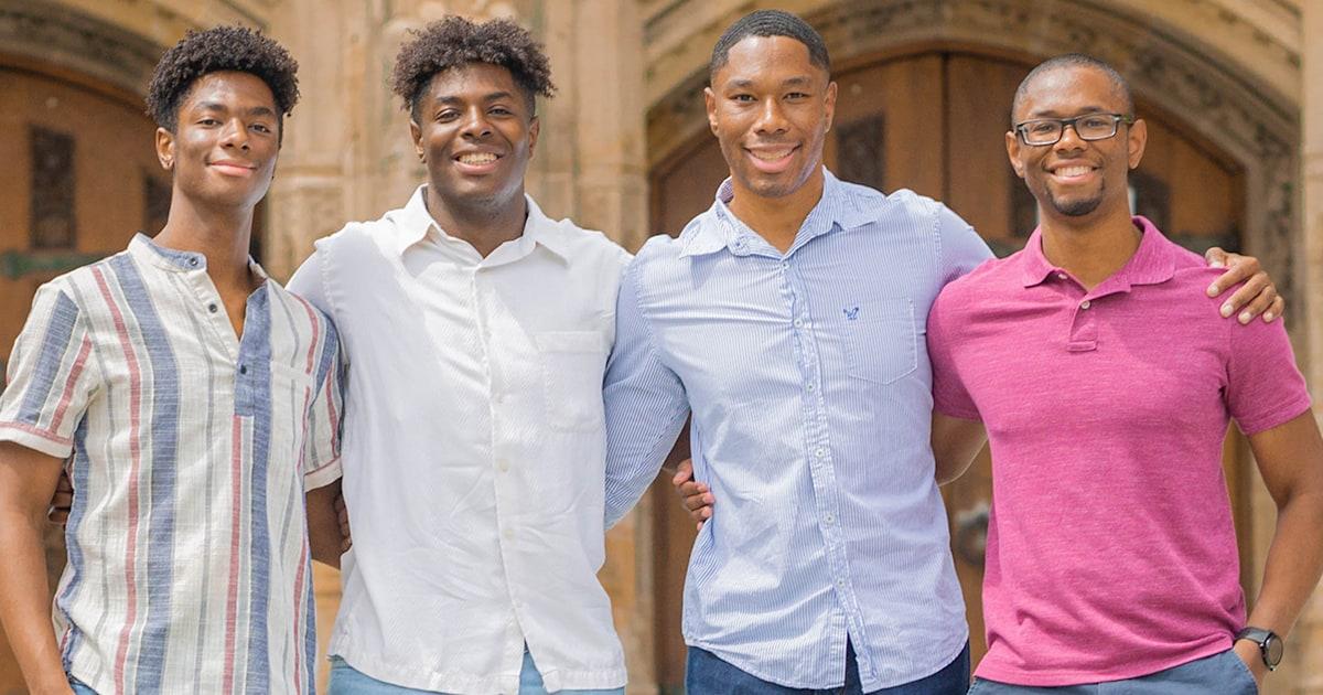 Quadruplet brothers graduate Yale together
