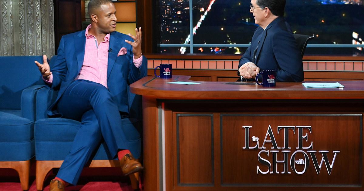 Craig Melvin shares pep talk Stephen Colbert gave him before a big job interview