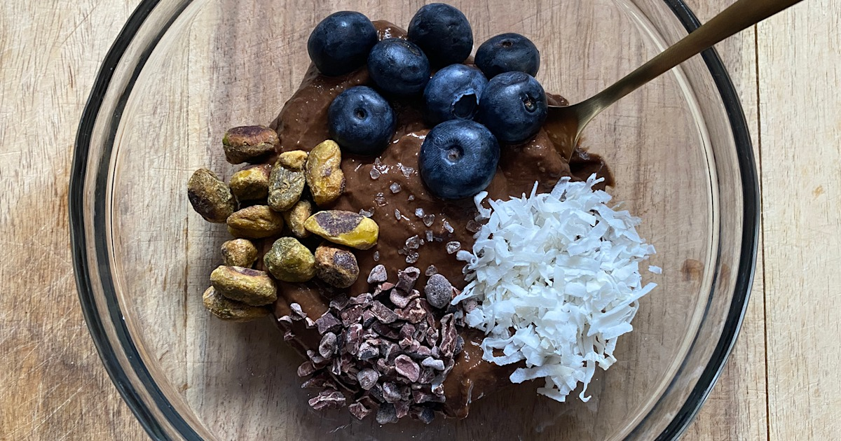 Chocolate avocado pudding tastes like dessert and is healthy enough to be breakfast