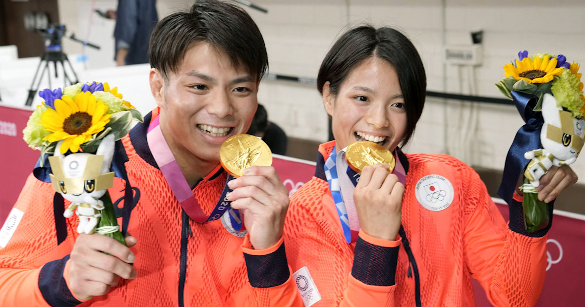 Image Japanese brother and sister win gold on same day in Olympics first