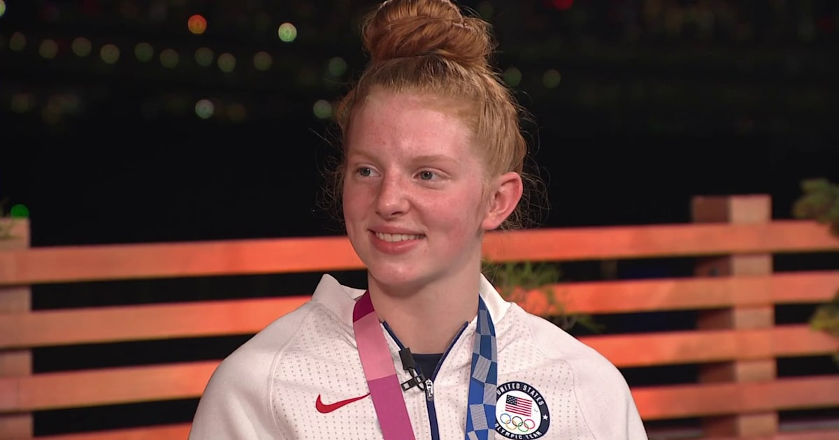 Swimmer Lydia Jacoby applauds her hometown's crazy watch party: 'We did this together'