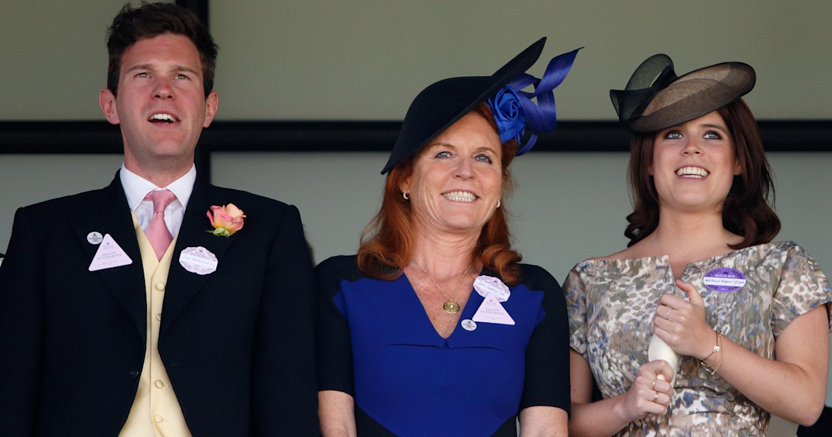 Sarah Ferguson defends daughter Eugenie's husband over pics of him with other women