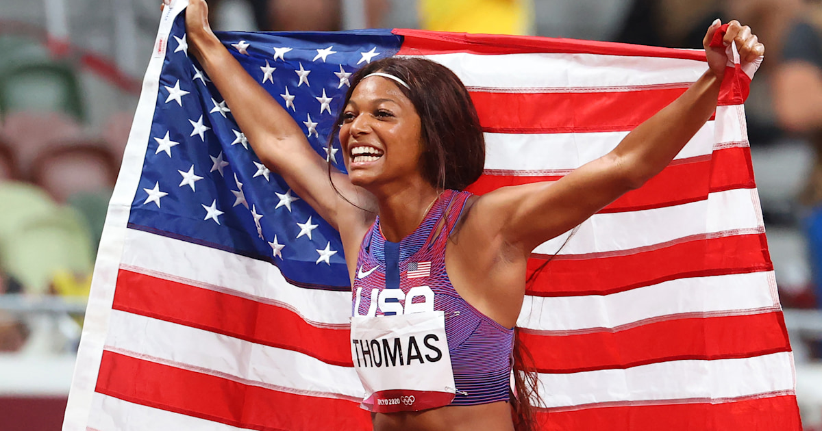 Track star Gabby Thomas reacts to fans comparing her to Wonder Woman