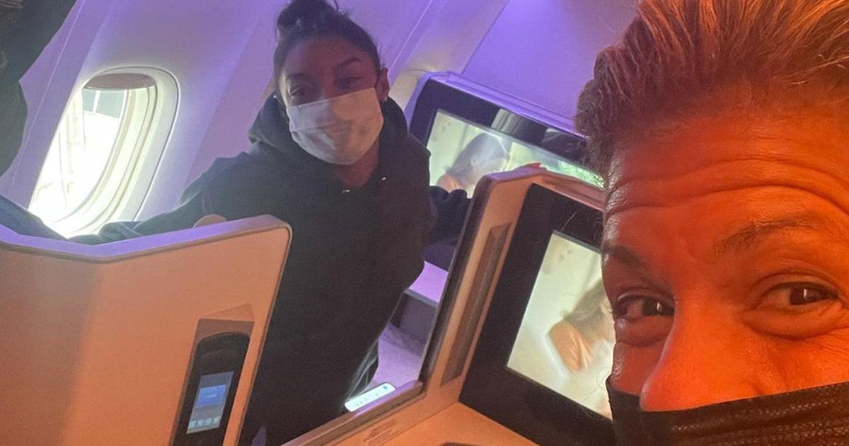 TODAY in Tokyo: Hoda runs into Simone Biles on flight home