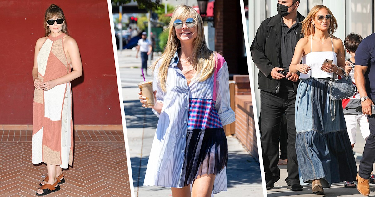 Celebrities can't get enough of the patchwork fashion trend