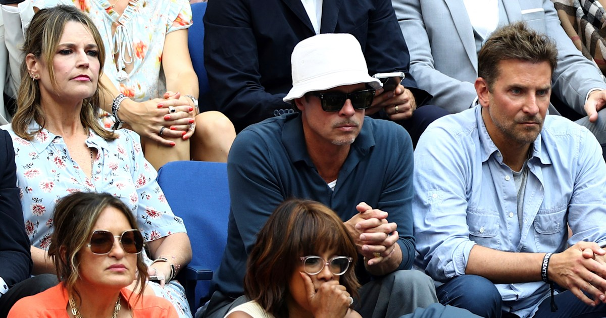 Savannah spills the details about sitting next to Brad Pitt and Bradley Cooper at US Open