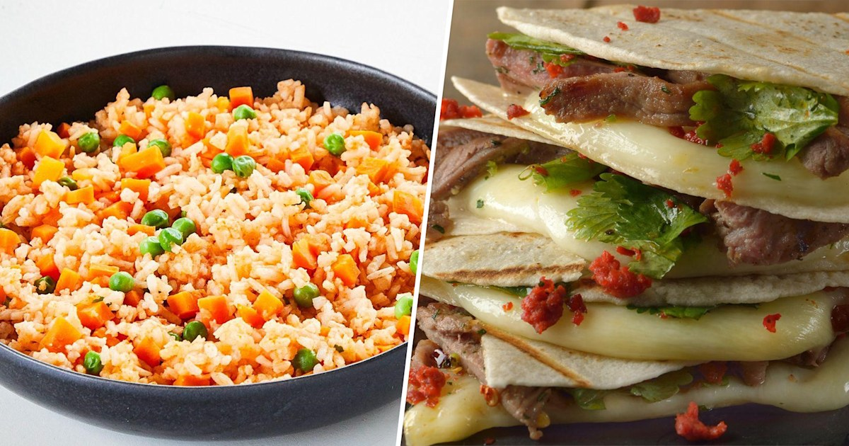 Cook up steak quesadillas and red rice for Mexican Independence Day