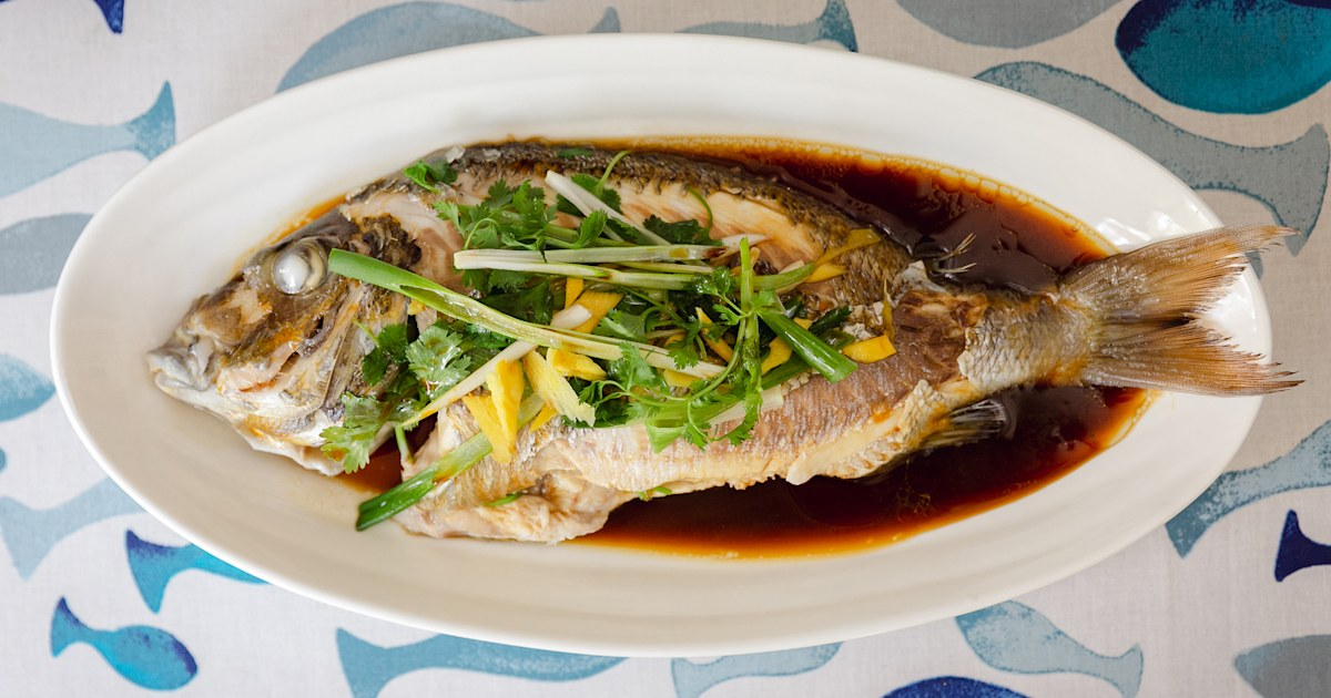 This steamed fish with ginger and scallions will transport you to Hong Kong