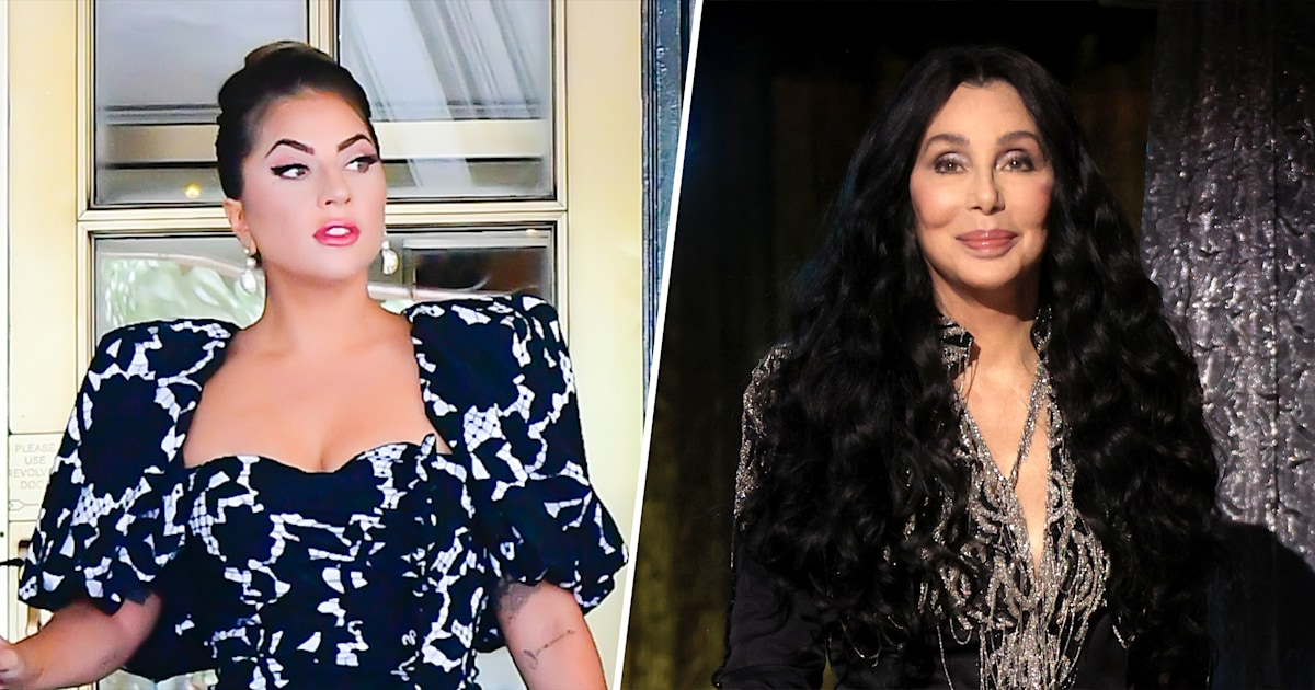 Cher and Lady Gaga twin with perfectly matching blond hair in stunning photo