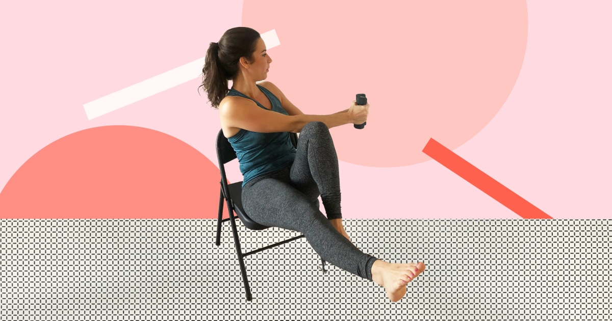 Knee injury? 6 seated exercises that still work your arms and core