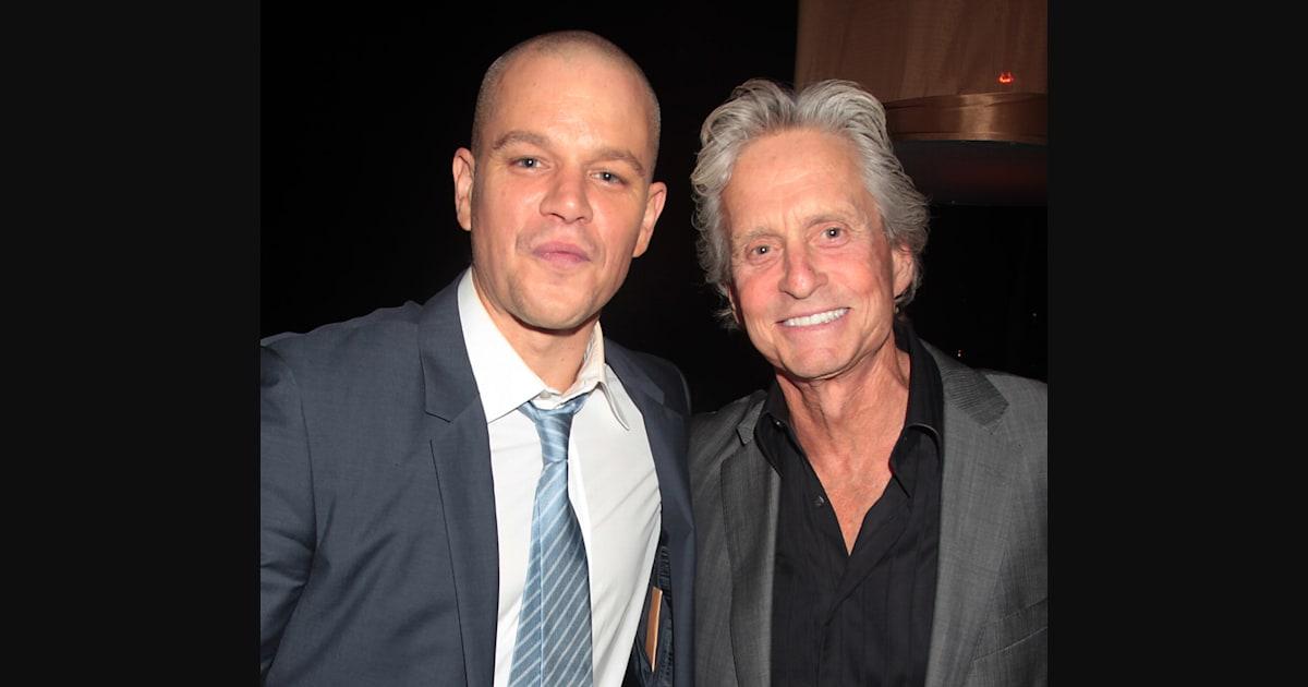 Matt Damon: Michael Douglas is a wonderful kisser - The