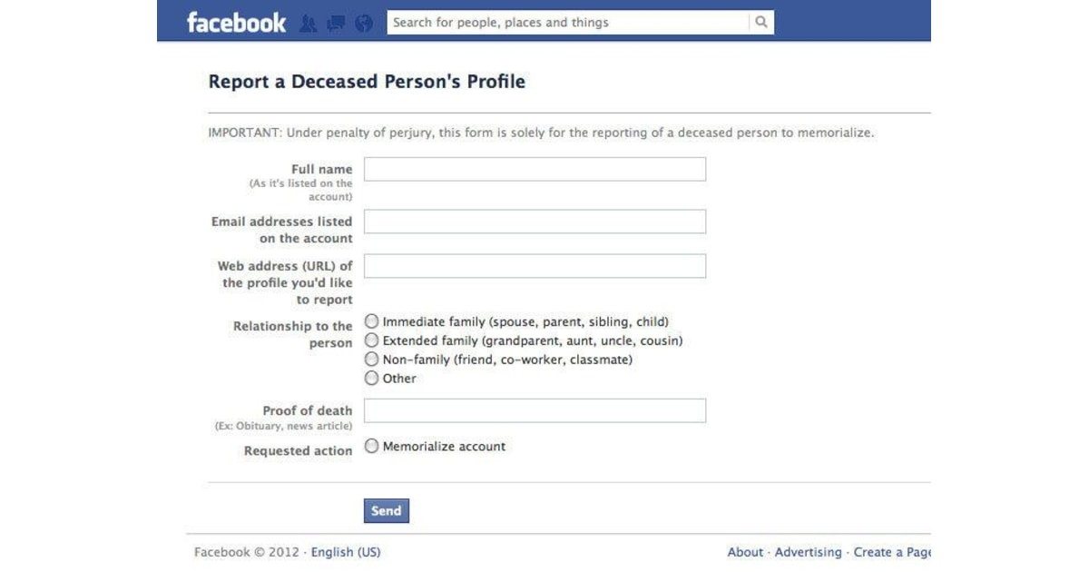 Facebook kills off a user who isn't really dead
