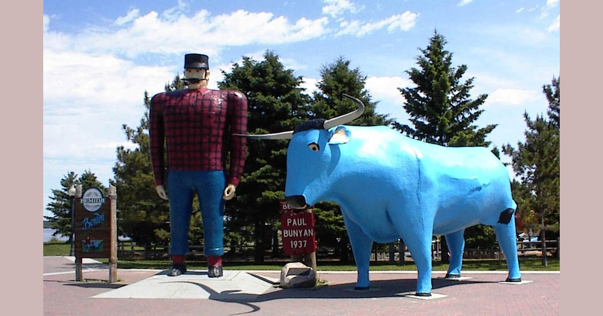 Paul Bunyan And Babe The Blue Ox Tall Tale
