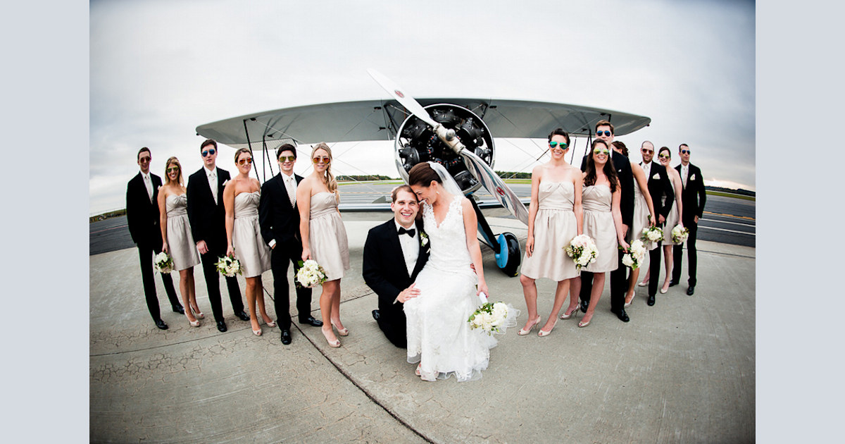 Real Wedding High Flying Fun In A Massachusetts Airport