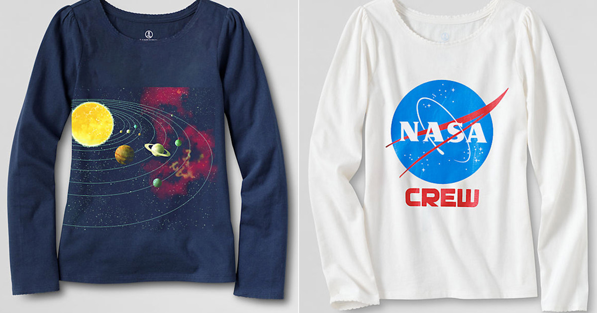 cf9f32f4f3ef Lands  End adds science tees for girls after mom complains of gender ...